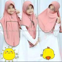 Kerudung anak NIQOB 3 IN 1 jilbab anak hijab anak kerudung masker