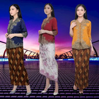 Promo Kebaya Encim senaJumbo modern silky Korea import aplikasi brukat