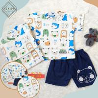 baju bayi laki laki 6 12 bulan Setelan Kaos Celana Pendek Ice Bear