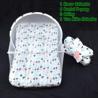 Kasur Bayi Set Kelambu / Kasur Kelambu Bayi / Bantal Guling Bayi Set