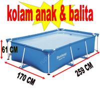 kolam renang anak kotak balita petak portable square portabel swimming