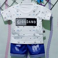 Setelan Baju Anak Bayi Sablon Giordano Usia 0-12 Bulan