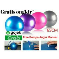 Gym Ball 65cm Free Pompa Bola Yoga Ibu Hamil