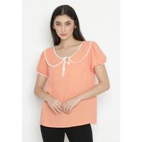 Mobile Power Ladies Short Sleeve Blouse - Orange Ok10069