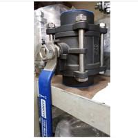 Ball valve 3pc carbon steel ukuran 1 1/2(inch)