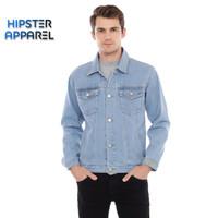 Original jaket jeans hipster warna biru muda