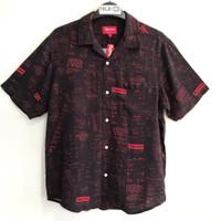 Supreme Receipts Rayon S Shirt Black 100% Original