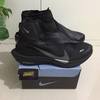 Sepatu Nike Zoom Pegasus Turbo Shield Wp Habanero Triple Black