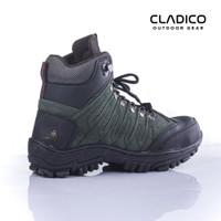 Sepatu Safety Boots Pria Original Cladico Cope High Hijau Army Terbaik - Hijau, 39