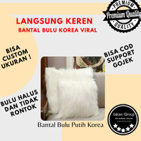 bantal bulu putih korea