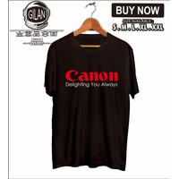 Kaos Baju CANON Delighting You Always Kamera Foto Logo - Gilan Cloth