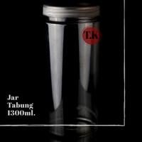 Jar tabung 1300 ml|Toples Plastik 1300 ml | Kemasan kue & keripik