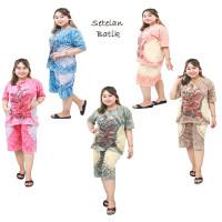 Setelan Batik Jumbo Celana Pendek / Piyama jumbo / Babydoll Jumbo