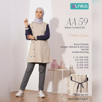 Baju Atasan Alnita AA 59 Coklat Susu Blus Kaos Katun Muslimah Olahraga