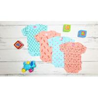 Pakaian Bayi jumper 3-6 bln ( isi 4 pcs ) Hunday BAC108