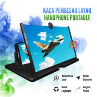 Kaca Pembesar Video Layar Handphone HP Smartphone Portable Home Cinema - Hitam