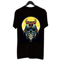 Happiest-BF031 Kaos Distro Pria T-Shirt Pria Kaos Pria Burung Hantu - Putih, L