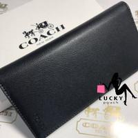 Coach Long Wallet Crossgrain Leather