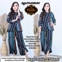 Batik Wanita Karenina Set Top+Kulot Bahan Tenun by Dewo