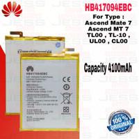 Baterai Battery ORIGINAL HB Ascend Matte 7 Mate 7 / TL-00 HB417094EBC