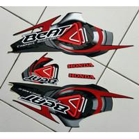stiker striping honda beat karbu 2010 hitam