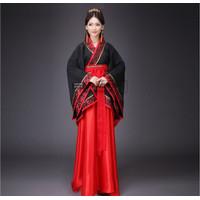 CC-136 hanfu wanita baju tradisional cina han yukata kimono set rok