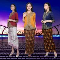 Kebaya Encim Modern Silky Aplikasi Renda Brukat Import