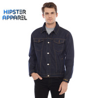 HIPSTER JAKET jeans denim pria warna BIRU DONGKER