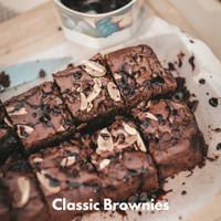 Fudgy Brownies   Brownies Panggang   Premium Brownies  Brownies Almond