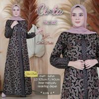 Baju dress gamis cardi wanita jumbo ld 120 batik katun motif akar