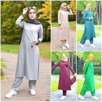 Baju Olahraga Senam Wanita Muslimah Panjang Syari BMS 19