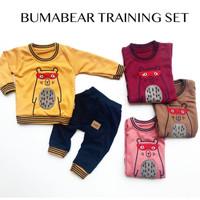 BJ307 baju setelan bayi 3-9 bulan anak laki training baby boy lucu