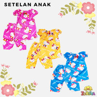 Setelan Anak Perempuan Hello Kitty Kartun 1-3 Tahun Baju Celana Murah