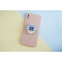 Pop Socket Griptok Lucu Panda Pink Ear Popsocket
