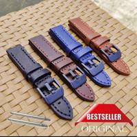 Tali Jam Tangan Kulit Leather Asli Nautica Police Fossil Seiko Balmer