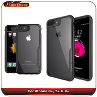 Casing Hard Soft Case iPhone 6 6s 7 8 Plus Clear Armor Bumpshox iPaky