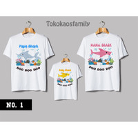 KAOS BABY SHARK COUPLE FAMILY - baju baby shark pink fong - Kaos