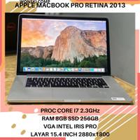 MACBOOK PRO RETINA 2013 CORE I7 15 INCH RAM 8GB SSD 256GB APPLE