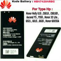 Baterai Batt ORI Honor 3C Lite G0C55A Ascend Y5 Y550 G620 HB474284RBC