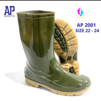 AP BOOTS 2001 SEPATU BOOTS ANAK SEKOLAH TANGGUNG HIJAU - AP BOOTS