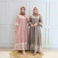 baju muslim wanita terbaru gamis kia maxy motif maxmara