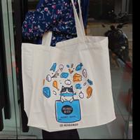 Grocery Tote Bag / Tas Belanja / Tote Bag Kanvas motif Kucing
