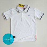kaos distro anak /polo shirt anak - putih Tirex, S