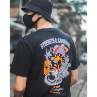 Kaos Anime Streetwear - Arcanine Strengh I Black I Cotton Combed 24s