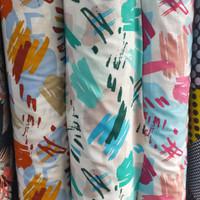 kain bahan baju meteran katun rayon motif abstrak 5486