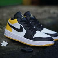 Sepatu Basket Wanita Nike Air Jordan 1 Retro Import / Brown White