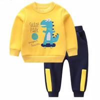 PASSWORD SKATE DINO Setelan Sweater 1 - 7 Tahun Baju Anak BerKualitas