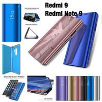 Flip cover case mirror Xiaomi Redmi 9/Redmi note 9 sview autolock