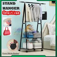 Rak Gawang SEGITIGA Stand Hanger Rak Pakaian Serbaguna Gantungan Baju