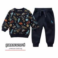 PASSWORD ROCKET Setelan Sweater 1 - 7 Tahun Baju Anak BerKualitas